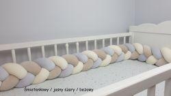 Velur braided crib bumper 200cm
