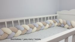 Velur braided crib bumper 240cm