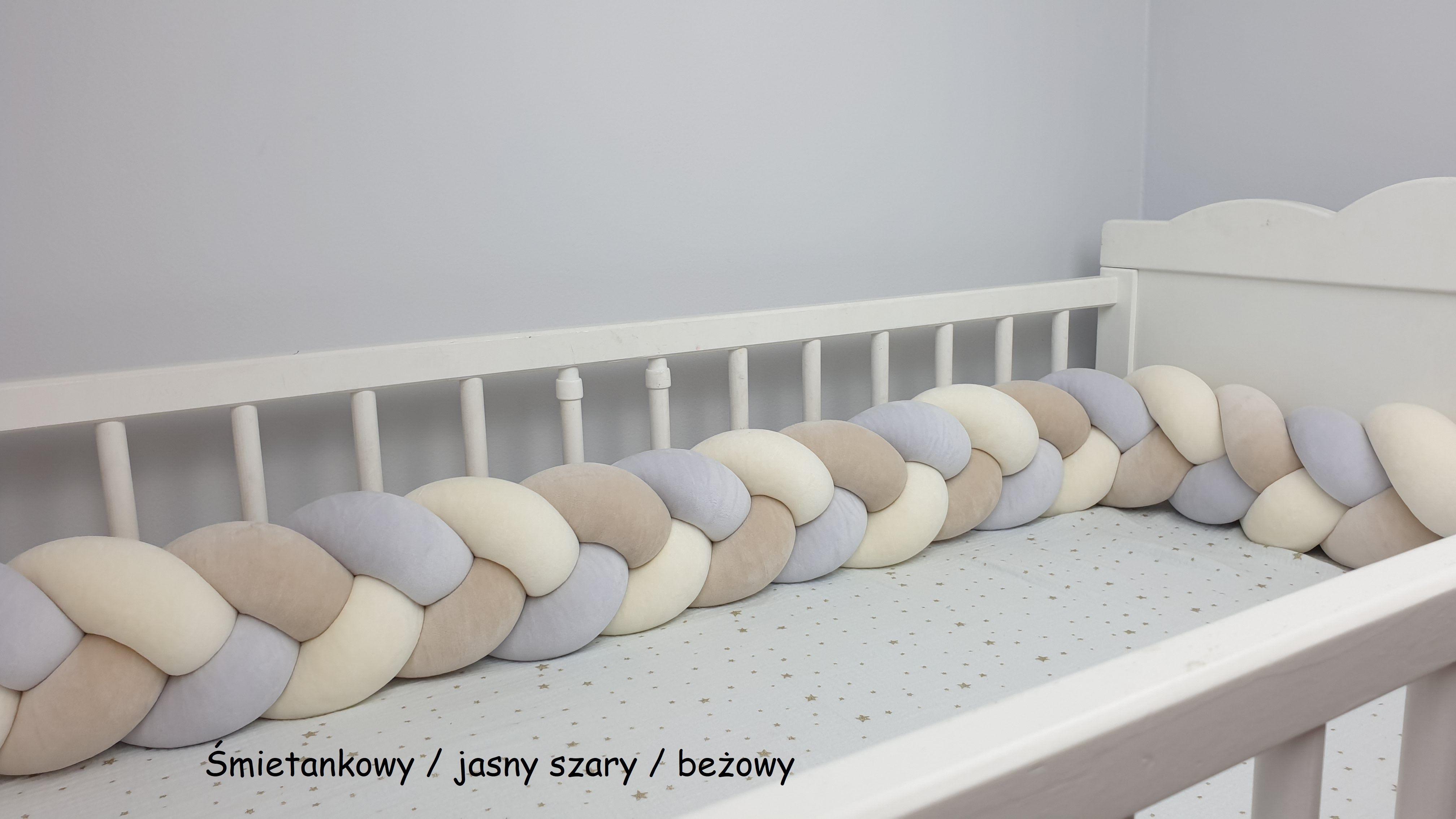 Velur braided crib bumper 350cm