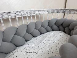 Ochraniacz do łóżeczka trzypasmowy 120cm