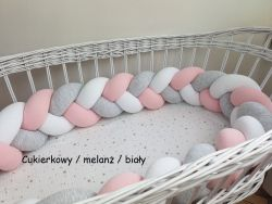3-bands braided crib bumper 120cm