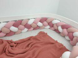 Ochraniacz do łóżeczka czteropasmowy 140cm