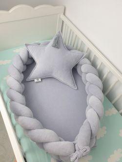 Kokon niemowlęcy welurowy