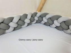 4-bands braided crib bumper 200cm