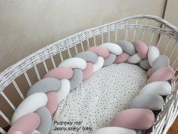 3-bands braided crib bumper 300cm