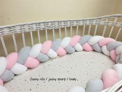 Velur braided crib bumper 300cm