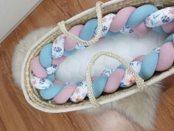 Braided crib bumper with pattern 300 cm