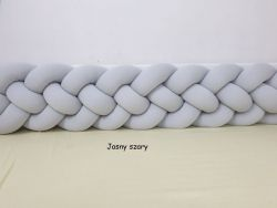 4-bands braided crib bumper 240cm