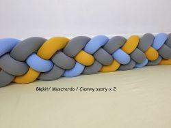 Ochraniacz do łóżeczka czteropasmowy 350cm