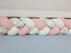 Braided crib bumper with pattern 400 cm